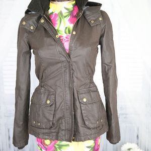 ZARA TRF Collection Faux Leather Brown Jacket